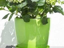 Горшок для цветов Магнолия, светло-зеленый 155 мм