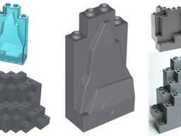 Горы - скалы Lego (Лего), кирпичи, панели, растения
