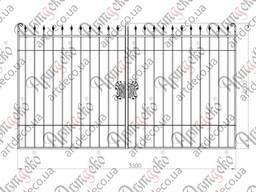 Готові металеві ворота розпашні, хвіртка та секція огородження