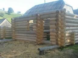 Готовый дом из дикого сруба смереки зимней рубки 4 на 6