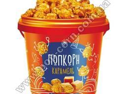 Сладкий готовый попкорн в упаковке, 1л