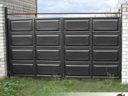 Готовые ворота, распашные ворота, ворота филенка