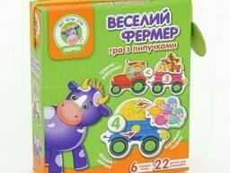 Гра з липучками Веселий фермер на украинском Vladi Toys SKL11-218860