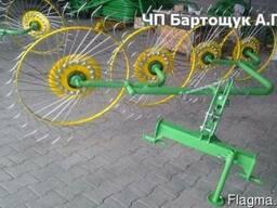 Грабли ворошилки навесные - 4 колесные