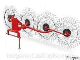 Грабли-ворошилки Wirax на круглой трубе (Польша, 5 секции, с