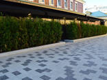 Гранитная брусчатка полнопиленная, тротуарная плитка - фото 7
