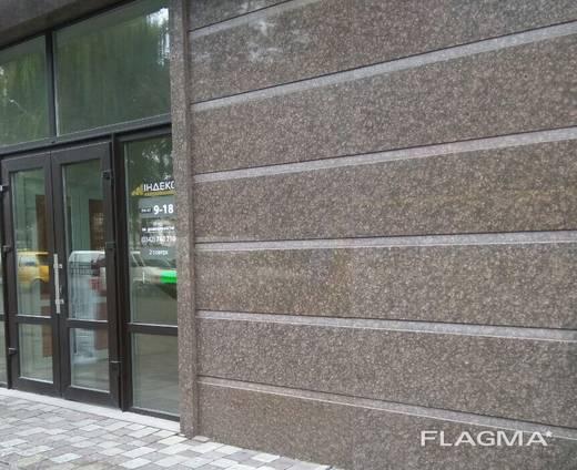 Гранитная плитка для фасада и ступеней