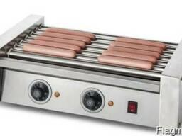 Гриль роликовый EWT INOX HDRG-E7-2 для сосисок хот-дог. Новы