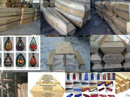 Гробы ритуальные заготовки под ткань