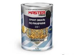 Грунт-эмаль 3в1 молотковая Farbitex Профи Master черный 0,9л