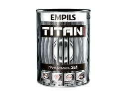 Грунт-эмаль по ржавчине и цинку Tytan Черный RAL 9005 0. 9 кг