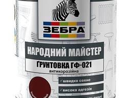 Грунтовка ГФ-021 (Серое железо) ZEBRA серия Народный Мастер