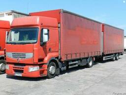 Грузоперевозки Renault Premium,10 тонн прицеп 10 тонн.98куб