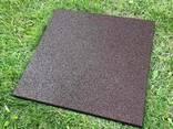 Резиновые полы, плитка 500х500х25 мм. - фото 6