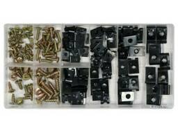 Гвинти самонарізні і металеві кліпси YATO; наб. 170 шт.