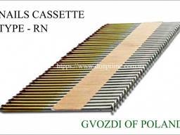 Гвозди для нейлера в кассете - угол 34° (L-50 мм - 90 мм)