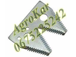 H163131 сегмент двойной ножа жатки (крупная насечка), JD600R
