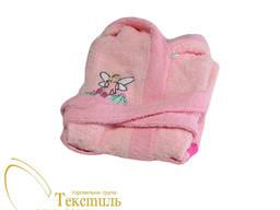 Халат дитячий махровий для дівчат Код: 0399