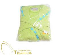 Халат дитячий махровий, з аплікацією зелений Код: 4812-02 46
