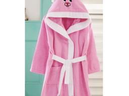 Халат дитячий маровий Зайка рожевий