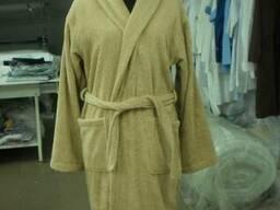Халат махра цветная, ворот шаль, (отшив под размеры)