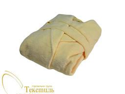 Халат махра жовтий, воріт шаль код 0523