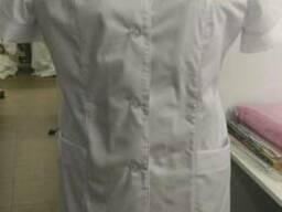 Халат медицинский, отшив под размеры, логотип