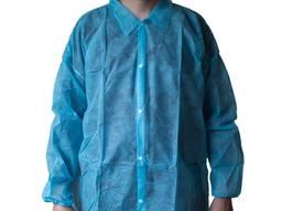 Халат медицинский синий, одноразовый