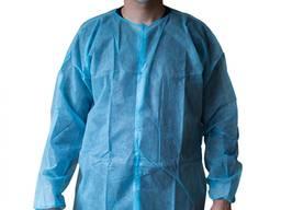 Одноразовый халат пациента голубой, халаты медицинские одноразовые
