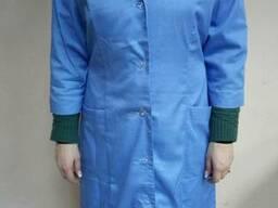 Халат рабочий женский Элемент голубой,тк.основа