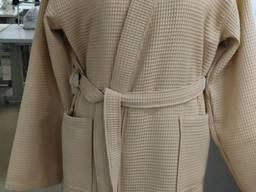 Халат вафельный бежевый кимоно Херсон
