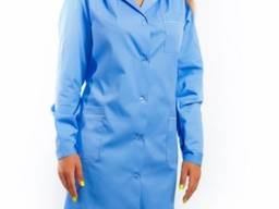 Халат женский медицинский голубой Элит