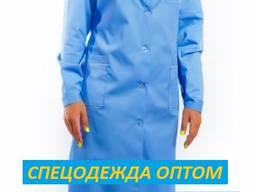 Халат женский Премиум голубой