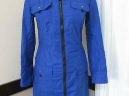 Халат рабочий женский на молнии синий цвет пошив
