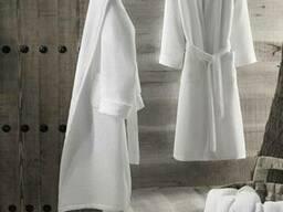 Халаты вафельные кимоно белые