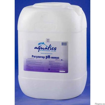 Химия для бассейна Aquatics жидкий pH-минус.