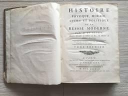 Histoire de la Russie Moderne 1783 г. на французском языке