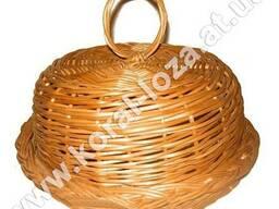 Хлебница круглая из лозы 437-34