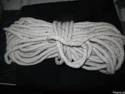 Хлопчатобумажная веревка 10 мм. Бухта-50 м.