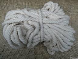 Хлопчатобумажная веревка 6 мм. Бухта-50 м.