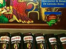 Хна для тату и мехенди Kaveri в конусе (темно-коричневая).