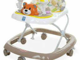 Ходунки детские на колёсах Bambi музыкальный (Коричневый) (M 3656-2(Brown))