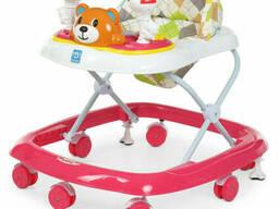Ходунки детские на колёсах Bambi музыкальный (Малиновый) (M 3656-2(Crimson))