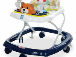 Ходунки детские на колёсах Bambi музыкальный (Синий) (M 3656-2(Dark-Blue))