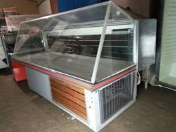 Холодильная витрина 1,8 м. б у, рыба на льду б у, холодильный прилавок б у