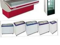 Холодильное оборудование, витрины, шкафы, бонеты, регалы,
