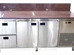 Холодильный стол с гранитной столешницей и задним бортом Tehma 14743