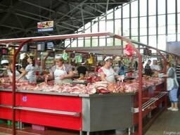 Холодильный торговый прилавок мясной для рынков