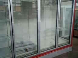 Холодильный торговый шкаф витрина 5 дверей стекло Linde Vela