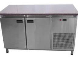 Холодильный стол 2 двери с гранитной столешницой